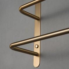 304 Stainless Steel Brushed Gold Multilayer Stagger Three Towel Bars Towel Rack  Bathroom Accessories KJWY003JIN-60CM