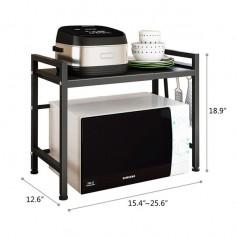 2-Tier Kitchen Counter Shelf Microwave Oven Rack