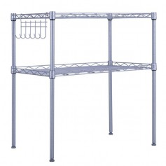 2-Tier Adjustable Carbon Steel Storage Shelf