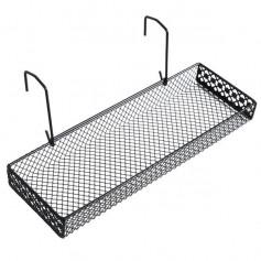 2 Pack Space-Saving Office Cubicle Grid Works Sundries Storage Rack(Black)