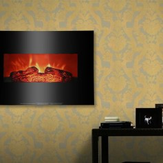 ZOKOP SF301-26A 26 inch 1400w Wall-mounted Fireplace Fake Wood / Single Color / Heating Wire / Mechanical / Black