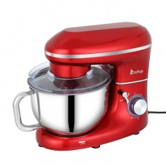 ZOKOP ZK-1504N Chef Machine 5.5L 660W Mixing Pot with Handle Red Spray Paint