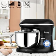 ZOKOP ZK-1504N Chef Machine 5.5L 660W Mixing Pot with Handle Black