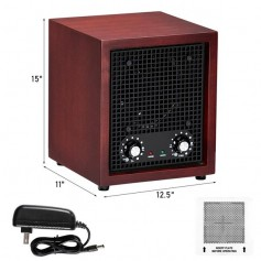ZOKOP ZOG-2 Household Ozone Air Purifier 26W Replaceable Ceramic Sheet Covering 3500 Square Feet-Cherry