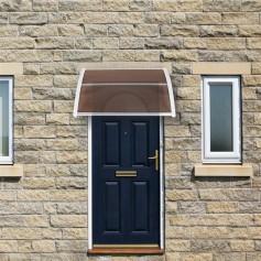 [US-W]HT-100 x 80 Household Application Door & Window Rain Cover Eaves Brown Board & White Holder