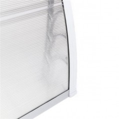 [US-W]HT-100 x 80 Household Application Door & Window Rain Cover Eaves Transparent Board & White Holder