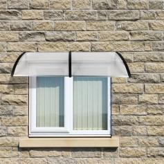 [US-W]HT-200 x 100 Household Application Door & Window Rain Cover Eaves Black Holder