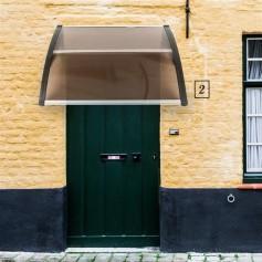 [US-W]HT-100 x 100 Household Application Door & Window Rain Cover Eaves Brown Board & Black Holder