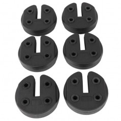 6pcs Tent Shade Canopy Water Fillable Weight Plates Black