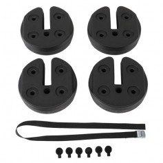 4pcs Tent Shade Canopy Water Fillable Weight Plates Black