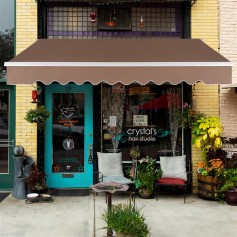 13x8 ft Retractable Awning Sandy Color