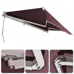 13x8 ft Retractable Awning Wine Red