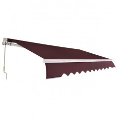 12x10 ft Retractable Awning Wine Red