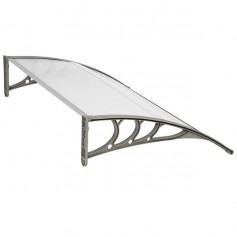 HT-150 x 100 Household Application Door & Window Rain Cover Eaves Canopy White & Gray Bracket