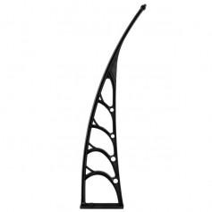 HT-120 x 80 Household Application Door & Window Rain Cover Eaves Canopy White & Black Bracket