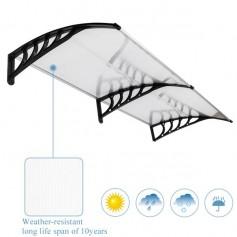 HT-190 x 100 Household Application Door & Window Rain Cover Eaves Canopy Black Holder