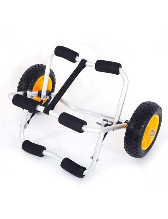 1.5MM Bend Aluminum Alloy Canoeing Trailer Cart Silver