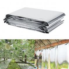 1Pc 210 x 120cm Silver Plant Reflective Film Garden Greenhouse Grow Light Accessories New