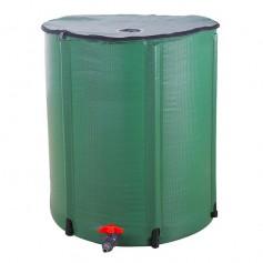 66 Gallon Folding Rain Barrel Water Collector Green