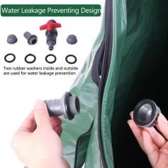 100 Gallon Folding Rain Barrel Water Collector Green