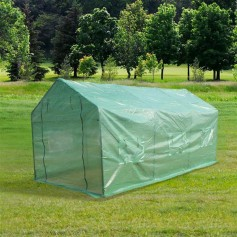 15′x7′x7′Heavy Duty Greenhouse Plant Gardening Spiked Greenhouse Tent
