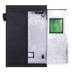 LY-120*60*180 Home Use Dismountable Hydroponic Plant Grow Tent with Window Black