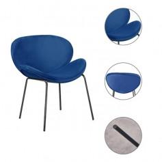 Von 2 Samt Sitz Esszimmerstühlen mit Effekt Metallbeinen Wohnzimmer Stuhl, Ergonomisches Design Wohnzimmer Stühle