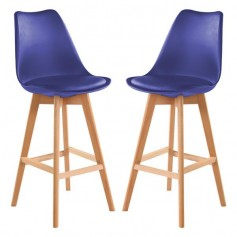 Bar Stools Set of 2 PU Leather Bar Stools with Backs Kitchen Counter Bar Chairs Wood Leg for Kitchen Stool Pub Chairs, Counter, Ergonomics Design