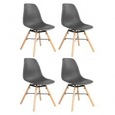 4er Set Wohnzimmerstuhl Esszimmerstuhl Bürostuhl Kunststoff Chair Eiffel Eiffelturm