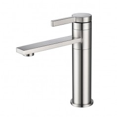 360-Degree Rotating Bathroom Basin Sink Faucet Single Handle Lavatory Water-Saving Stainless Steel Faucet